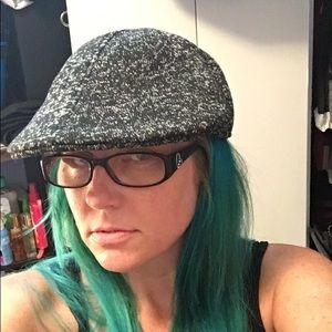 Apt 9 newsboy beret flat cap hat charcoal gray